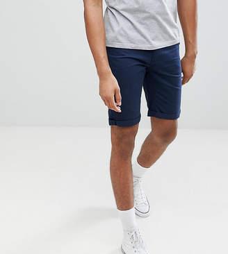 Bellfield TALL Chino Shorts In Navy