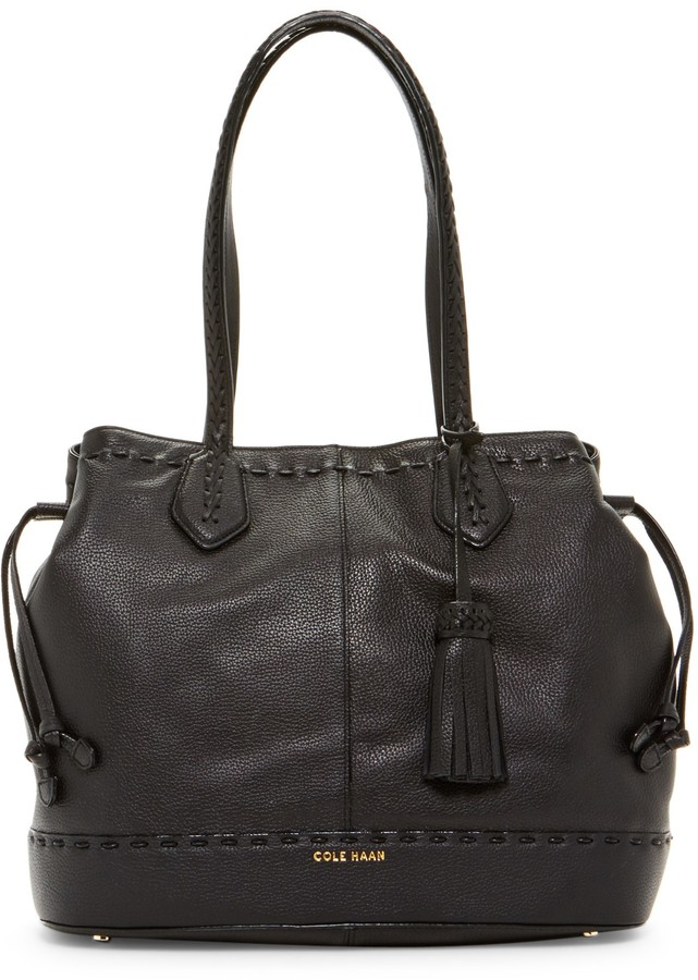 Cole Haan Cole Haan Allesa Drawstring Leather Tote