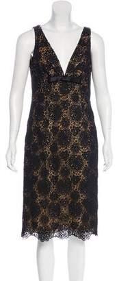 Michael Kors Bow-Accented Macramé Dress