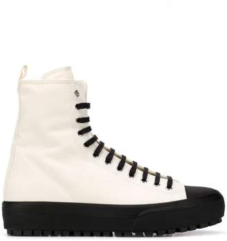 faa5a6f155bb Jil Sander contrast sole hi-top sneakers