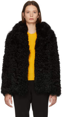 Yves Salomon Meteo Black Kalgan Lamb Fur Jacket