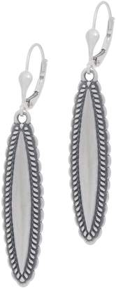 American West Sterling Silver Concha Design Lever Back Earrings