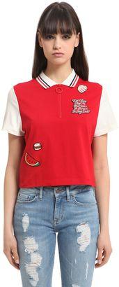 Gigi Hadid Cropped Cotton Polo Shirt $90 thestylecure.com