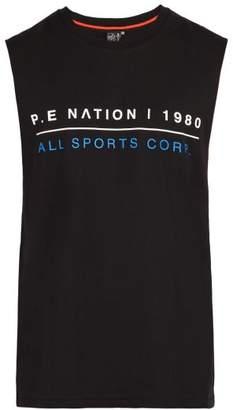 P.E Nation Cage Cotton Tank Top - Mens - Black