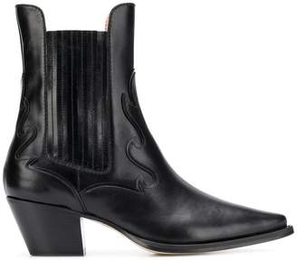Alberta Ferretti leather Western boots