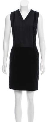 Bottega Veneta Velvet-Paneled Mini Dress