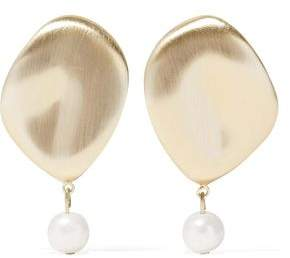 Elizabeth and James Gold-Tone Faux Pearl Earrings