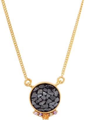 Ophelia Shana Gulati Diamond Slice & Gemstone Sterling Silver Pendant