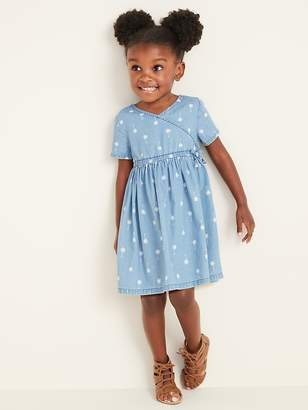 6a5796b67dcc Old Navy Faux-Wrap Chambray Shirt Dress for Toddler Girls