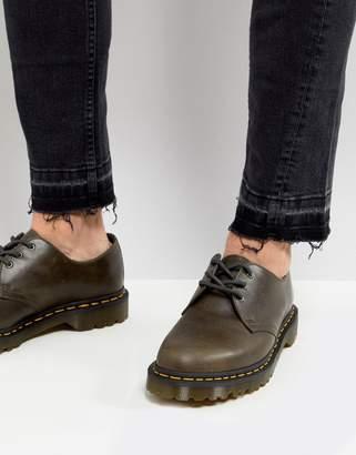 Dr. Martens (ドクターマーチン) - Dr Martens 1461 3-eye shoes in dark taupe