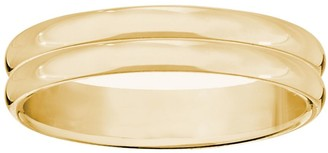 Men's 14K Yellow Gold 4mm Double Ribbed WeddingBand