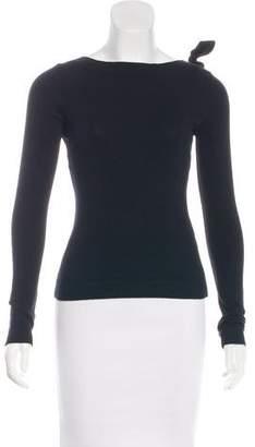 Valentino Long Sleeve Knit Sweatshirt