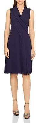 Reiss Alana Pleat-Front Dress