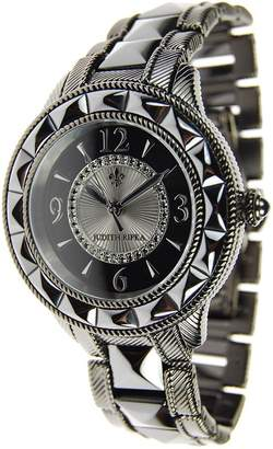 Judith Ripka Stainless Steel & Ceramic Watch