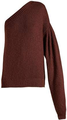 Stella McCartney One-shoulder balloon-sleeve sweater