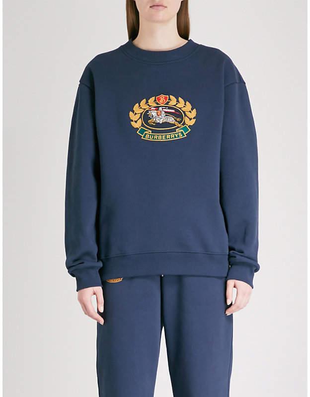 Logo-embroidered cotton-blend sweatshirt