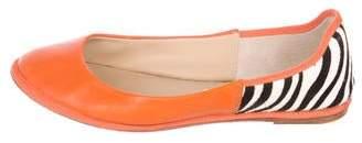Diane von Furstenberg Leather Ballet Flats