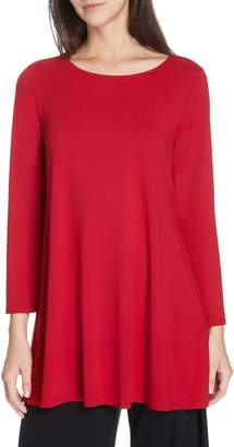Eileen Fisher Jewel Neck Tunic Top