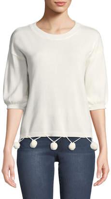 philosophy Pompom Balloon-Sleeve Cotton-Blend Sweater