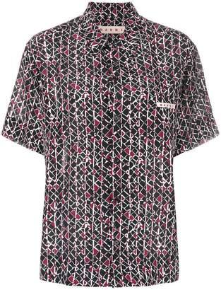 Marni printed half sleeve shirt