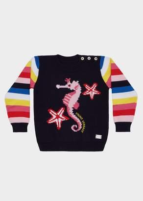 Versace Seahorse Stripe Sweater