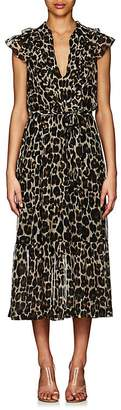 Robert Rodriguez Women's Leopard-Print Silk Maxi Dress