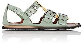 Miu Miu Women's Colorblocked Patent Leather Sandals - Salvia+Lim