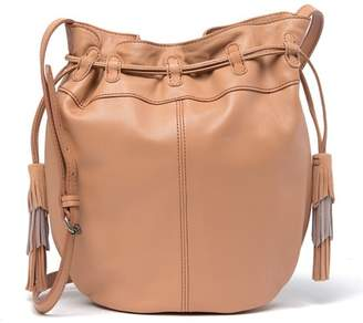 Lucky Brand Seren Leather & Suede Bucket Crossbody Bag