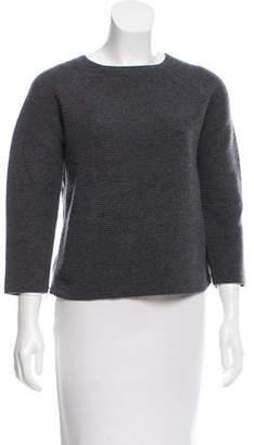 Chloé Zipper-Accented Wool Sweater