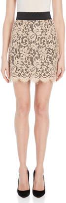 Dolce & Gabbana Powder Lace Mini Skirt