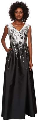 Adrianna Papell Floral Jacquard A-Line Ballgown Women's Dress