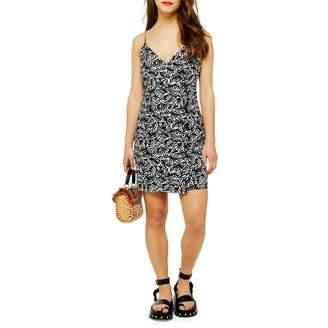 Topshop PETITE Matisse Print Linen-Blend Dress