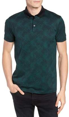 BOSS Pitton Slim Fit Jacquard Polo