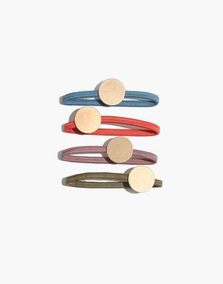 Madewell Four-Pack Disc Hair Ties
