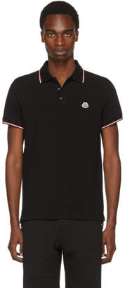 Moncler Black Logo Polo