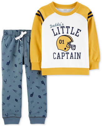 Carter's Carter Baby Boys 2-p. Little Captain Top & Printed Jogger Pants Set