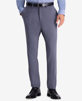 Kenneth Cole Reaction Men's Slim-Fit Stretch Subtle Plaid Dress Pants