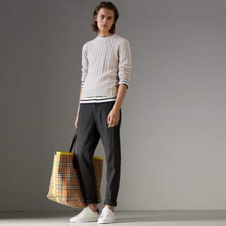 Burberry Cable Knit Cotton Cashmere Sweater