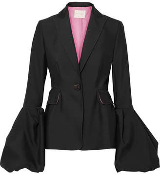 Roksanda Narika Wool And Silk-blend Jacket - Black