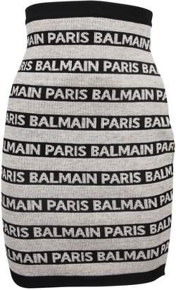 Balmain Paris Striped Skirt