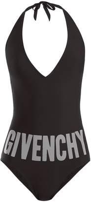 Givenchy Deep V-neck halterneck swimsuit