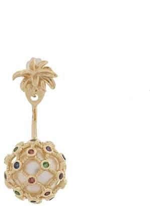 Leon Yvonne leaf embellished drop earrings