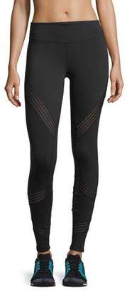 Alo Yoga High-Rise Performance Leggings w/ Mesh