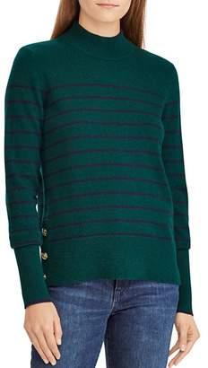 Ralph Lauren Striped Cashmere Mock Neck Sweater - 100% Exclusive