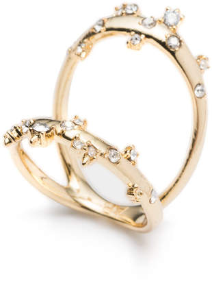 Alexis Bittar Double Band Crystal Ring