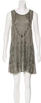 Chanel Metallic Knit Dress