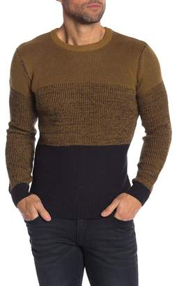 Lindbergh Contrast Colorblock Knit Sweater