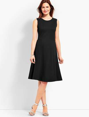 Talbots Ponte Fit-and-Flare Dress