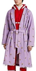 Undercover Men's Astronaut-Print Cotton Twill Robe Coat - Lilac