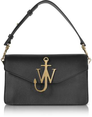 J.W.Anderson Black Leather Logo Purse